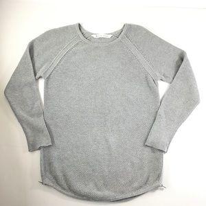 Athleta Gray Varsity Pullover Sweater
